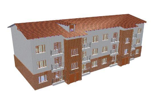 BIM-проект: многоквартирный дом, Архангельская область, г. Котлас