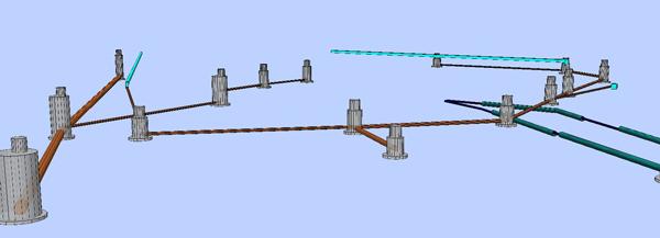 Построение модели. Фрагменты водоснабжения и канализации