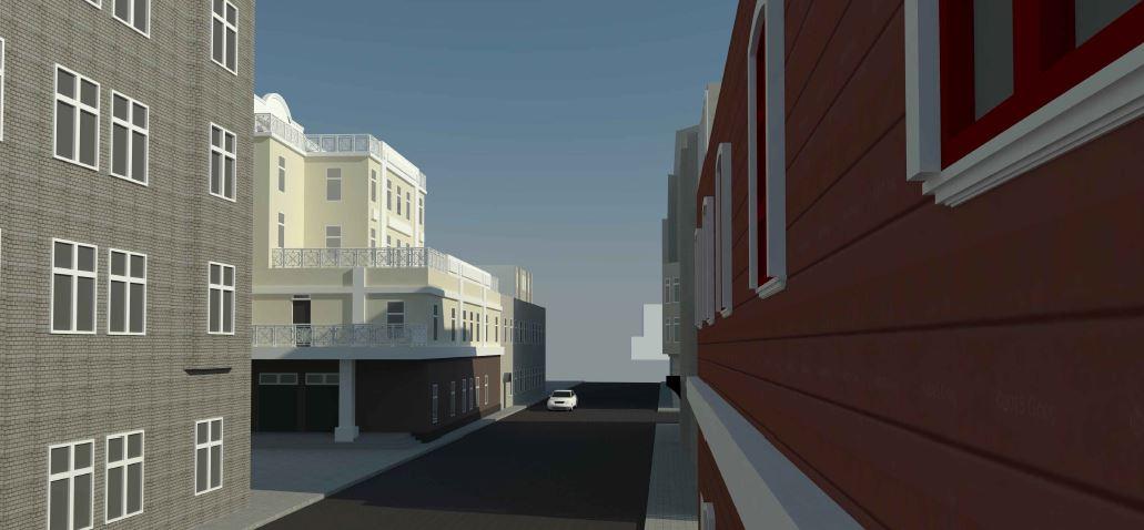 BIM-проект. Перспективное изображение №3 административно-офисного здания