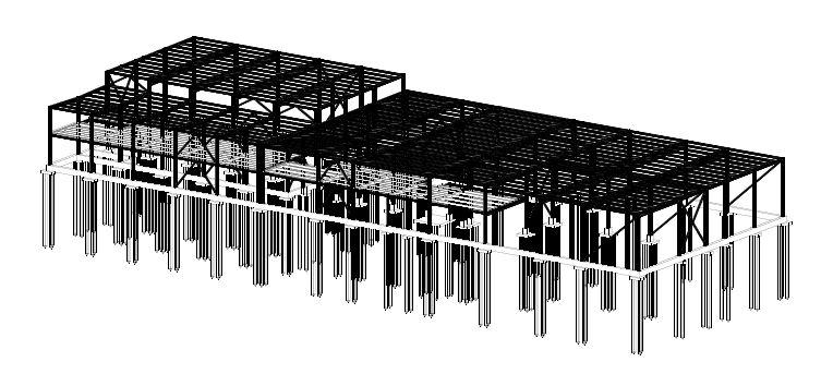 Проект, BIM-фрагмент. Каркас металлический