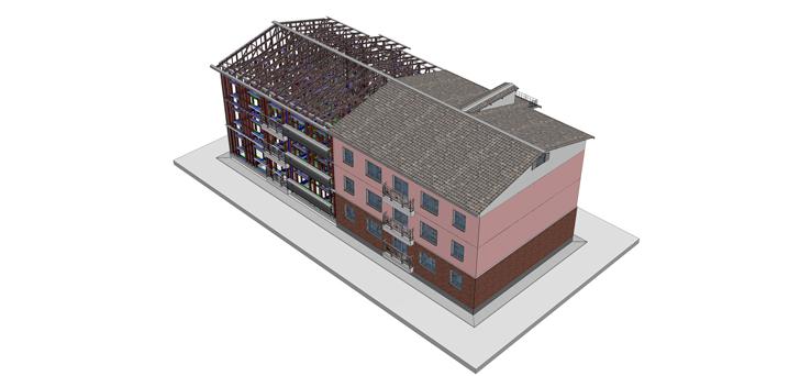 3D модель многоквартирного дома