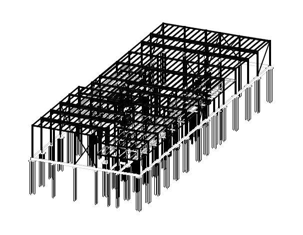 BIM-фрагмент. Каркас металлический