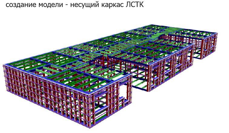 Несущий каркас ЛСТК, создание 3D модели