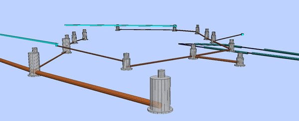 На вводе в здание в помещении узла учёта воды, расположенном в цокольном этаже, устанавливаются водомерные узлы с электромагнитными расходомерами МастерФлоу, учёт воды ведётся раздельно на жилые и встроенные помещения